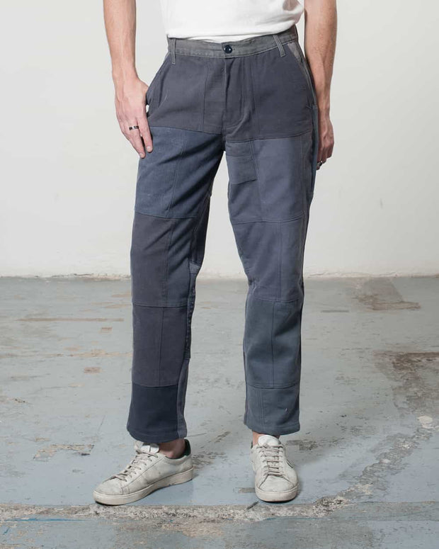 Overlord Upcycling Vintage | Grey Patchwork Pants Chino