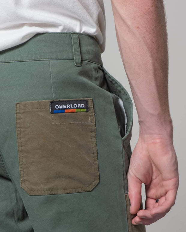 Overlord Upcycling Vintage | Green Rework Pants Chino