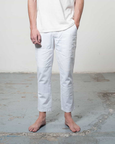 Overlord Upcycling Vintage | White Rework Pants Chino