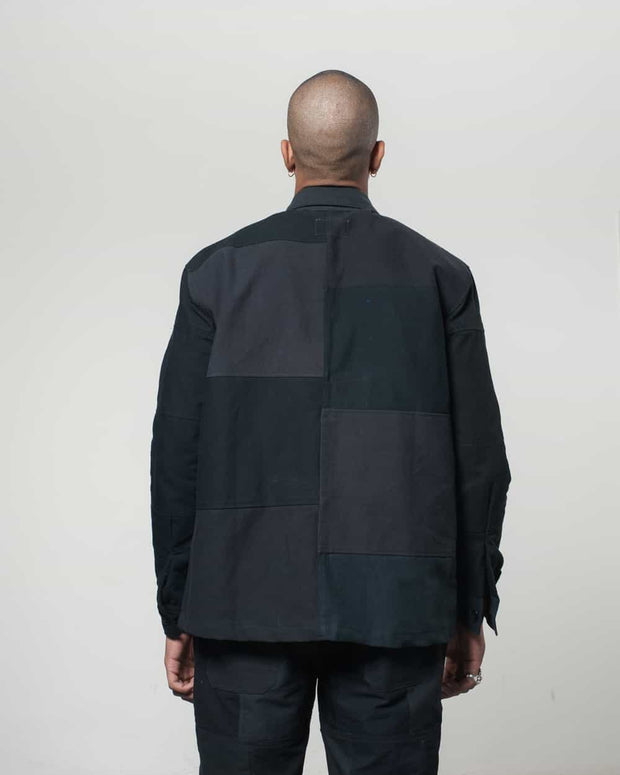 Overlord Upcycling Vintage | Black Patchwork Overshirt