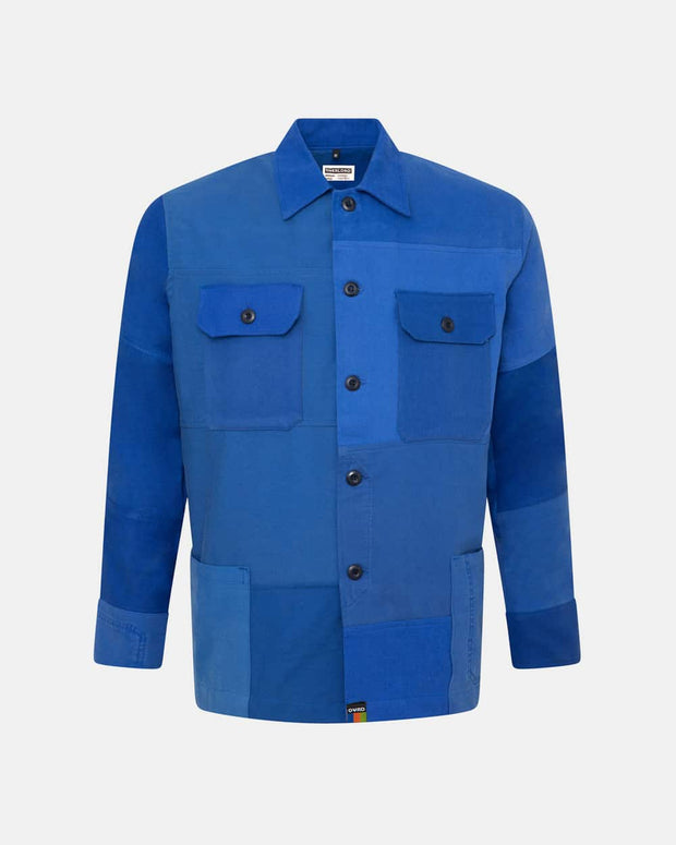 Overlord Upcycling Vintage | Blue Patchwork Overshirt