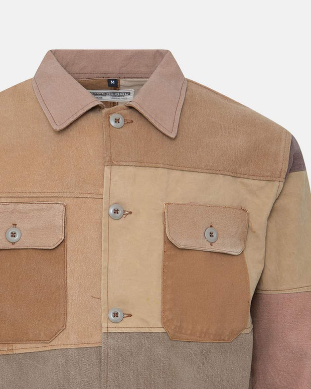 Overlord Upcycling Vintage | Camel Patchwork Overshirt