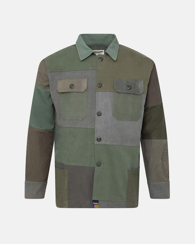 Overlord Upcycling Vintage | Olive Patchwork Overshirt