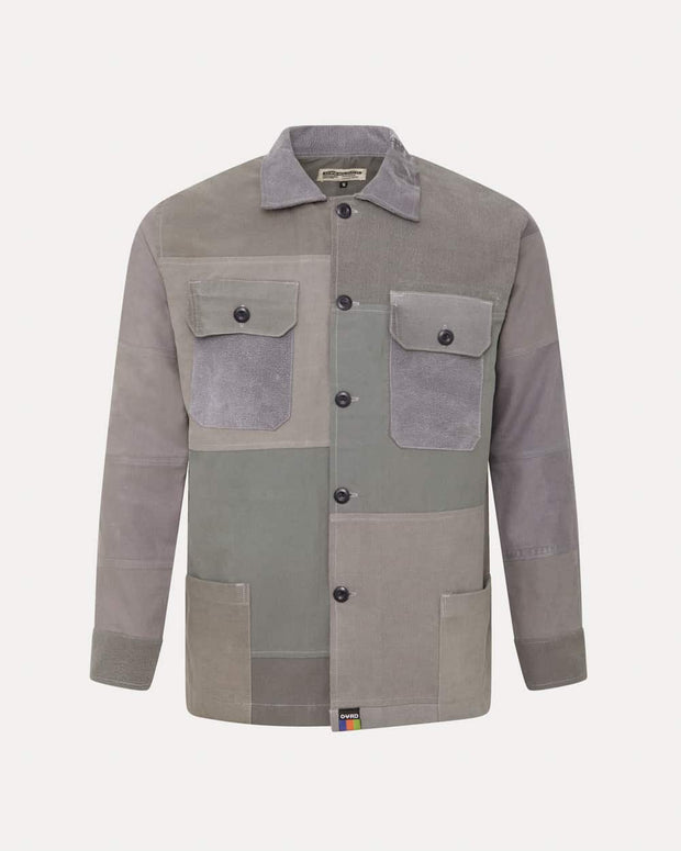 Overlord Upcycling Vintage | Grey Patchwork Overshirt