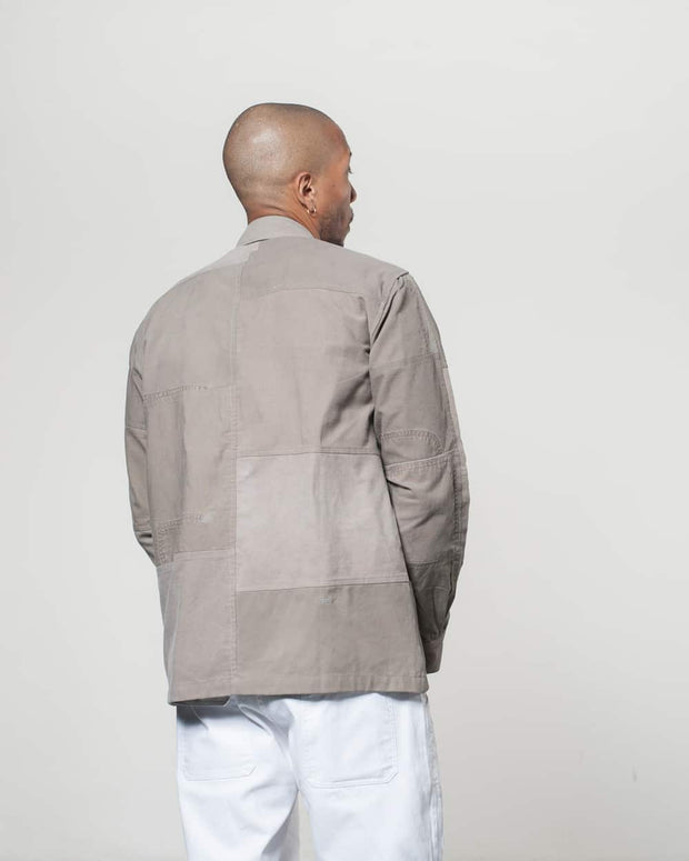 Grey Patchwork Overshirt
