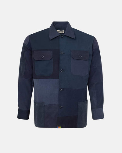 Overlord Upcycling Vintage | Navy Patchwork Overshirt
