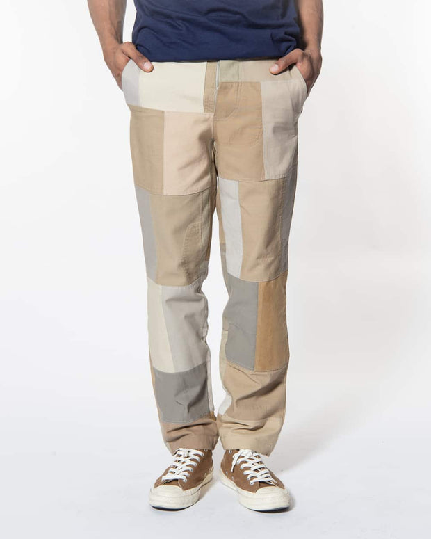 Overlord Upcycling Vintage | Beige Patchwork Trouser