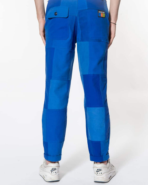 Blue Patchwork Trouser
