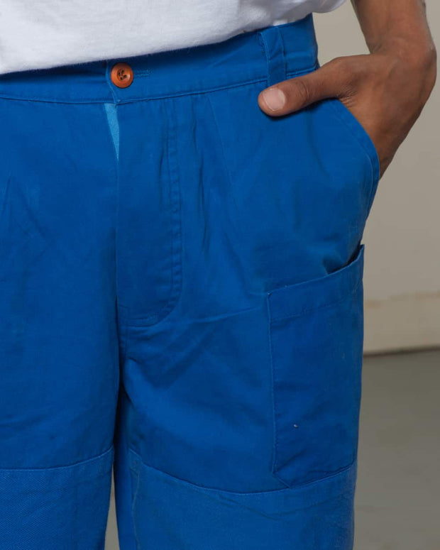 Overlord Upcycling Vintage | Blue Rework Straight Pants