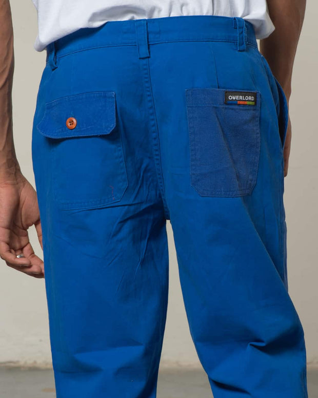 Blue Rework Straight Pants