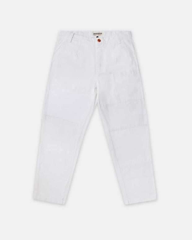 Overlord Upcycling Vintage | White Rework Straight Pants