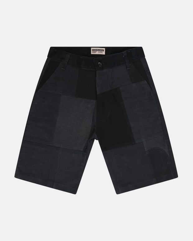 Overlord Upcycling Vintage | Black Patchwork Shorts