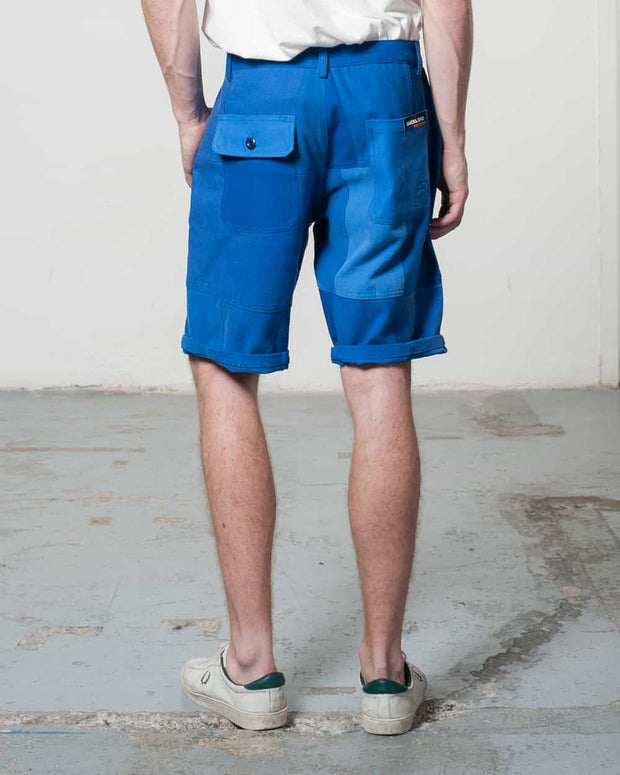 Overlord Upcycling Vintage | Blue Patchwork Shorts