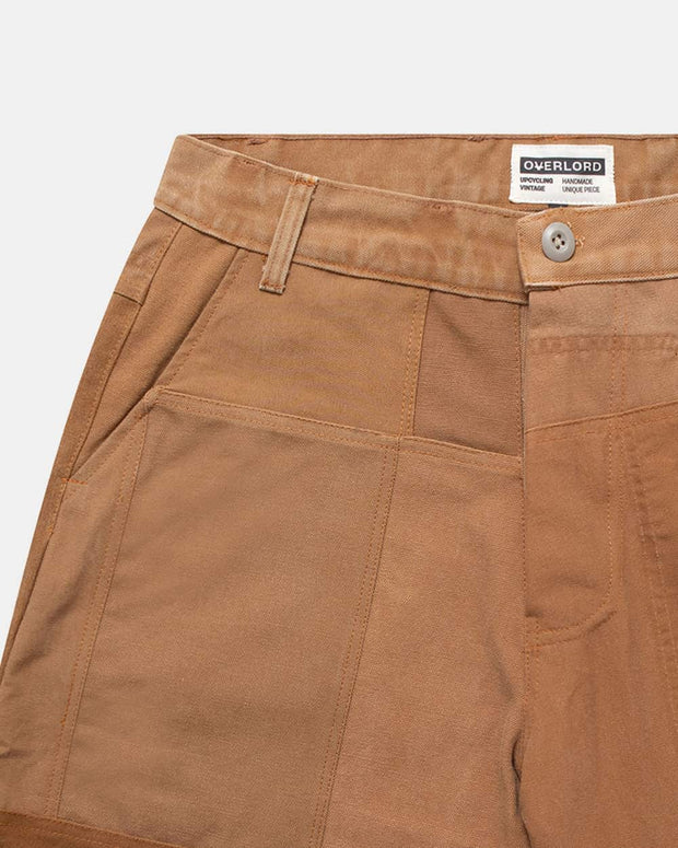 Camel Patchwork Shorts