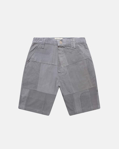 Overlord Upcycling Vintage | Grey Patchwork Shorts