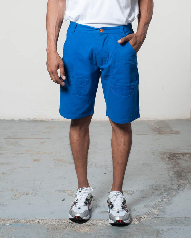 Overlord Upcycling Vintage | Blue Rehwork Shorts