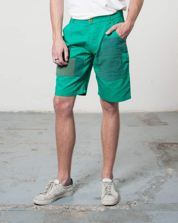 Overlord Upcycling Vintage | Green Rehwork Shorts