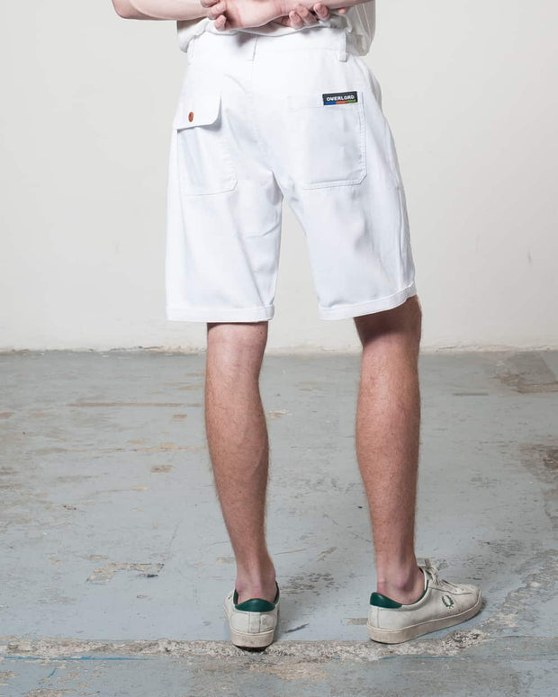 White Rework Shorts