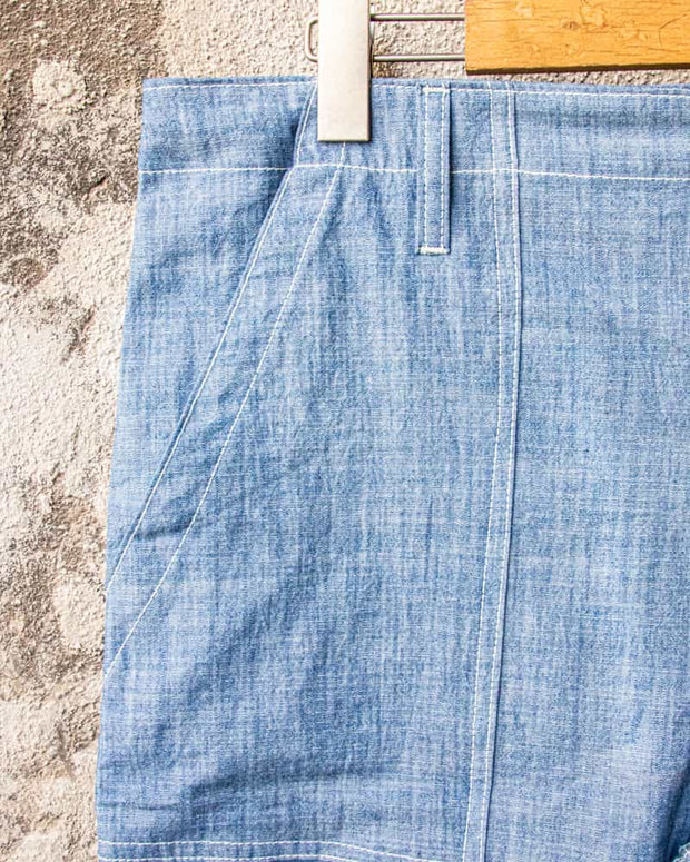 Overlord Upcycling Vintage • CHAMBRAY Shorts Blue