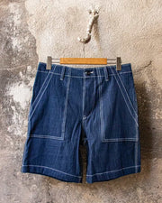 Overlord Upcycling Vintage • CHAMBRAY Shorts Navy