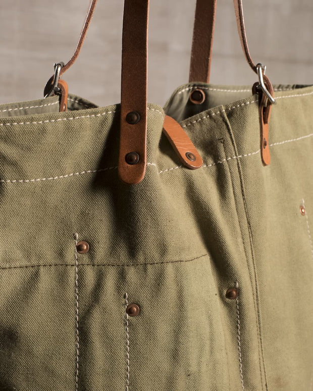 Overlord Upcycling Vintage | Olive Army Fabric Tote Bag