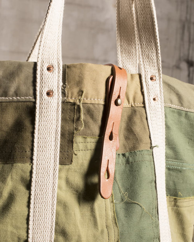 Overlord Upcyncling Vintage • Olive Army Patchwork Bag