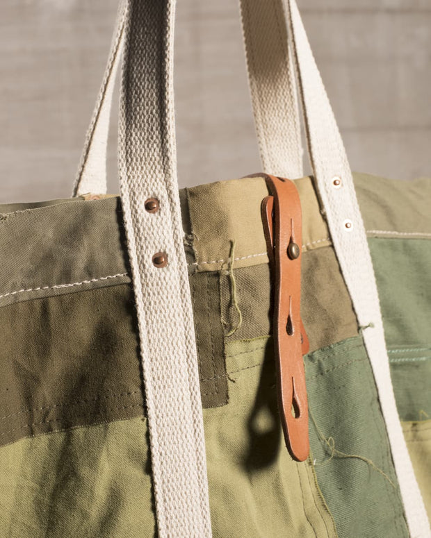 Overlord Upcycling Vintage | Olive Army Patchwork Bag