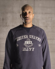 Sweat sans capuche United states Navy bleu - OverLord Brand