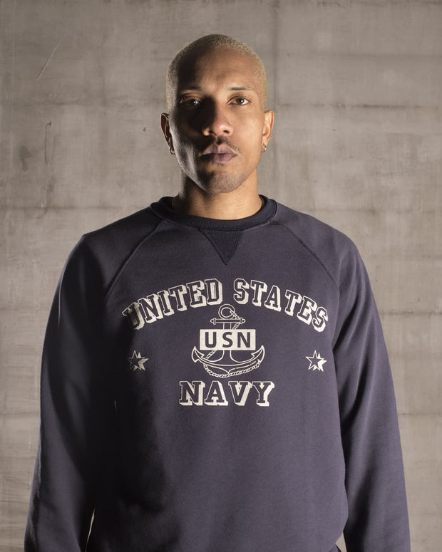 Overlord Upcycling Vintage • Blue US Navy Sweatshirt