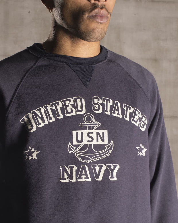 Overlord Upcycling Vintage | Blue US Navy Sweatshirt