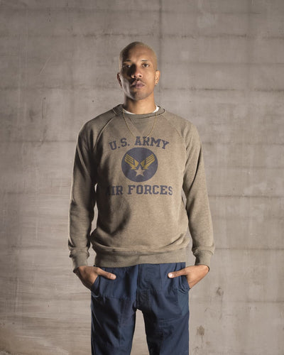 Overlord Upcycling Vintage | Olive US Army Air Forces Sweatshirt