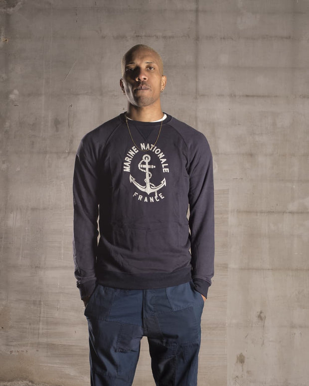 Overlord Upcycling Vintage | Blue French Navy Sweatshirt