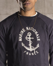 Overlord Upcycling Vintage • Blue French Navy Sweatshirt