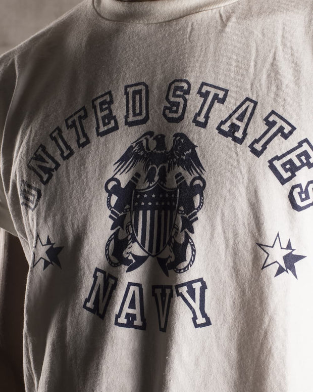 Overlord Upcycling Vintage | White US Navy T-Shirt