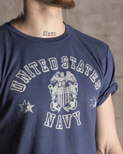Overlord Upcycling Vintage | Blue US Navy T-Shirt