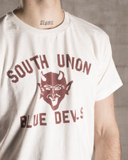 Overlord Upcycling Vintage • Brown South Union Blue Devils T-Shirt