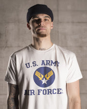 Overlord Upcycling Vintage | White US Army Air Forces T-Shirt
