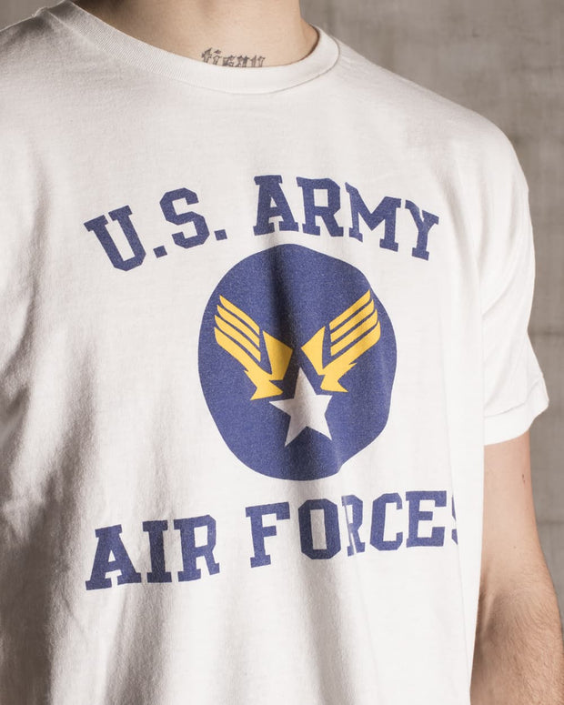 Overlord Upcycling Vintage • White US Army Air Forces T-Shirt