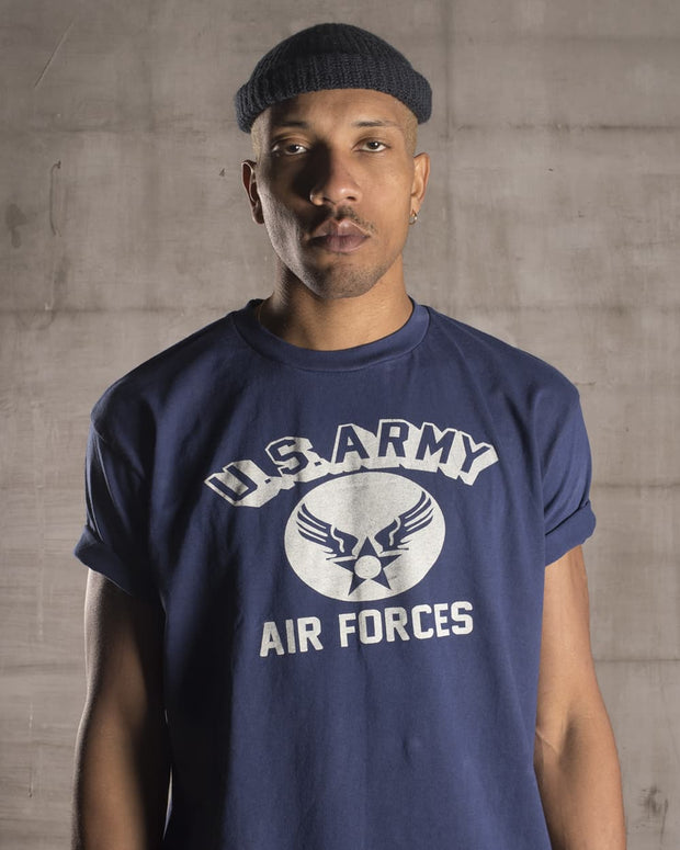 Overlord Upcycling Vintage • Blue US Army Air Forces T-Shirt