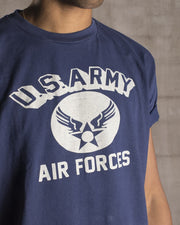 Overlord Upcycling Vintage | Blue US Army Air Forces T-Shirt