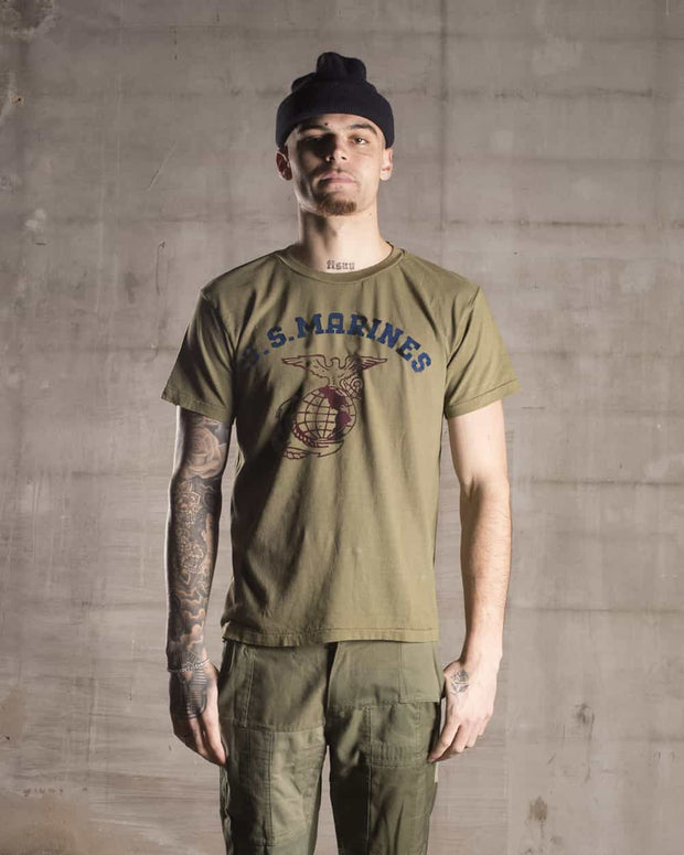Overlord Upcycling Vintage | Olive US Marines T-Shirt