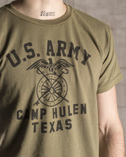 Overlord Upcycling Vintage • Olive Texas Camp Hulen US Army T-Shirt