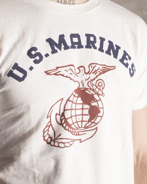 Overlord Upcycling Vintage • White US Marines T-Shirt
