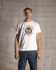 "Overlord Upcycling Vintage • White and Dark Colors ""Wing Of Victory"" US Air Force T-Shirt"