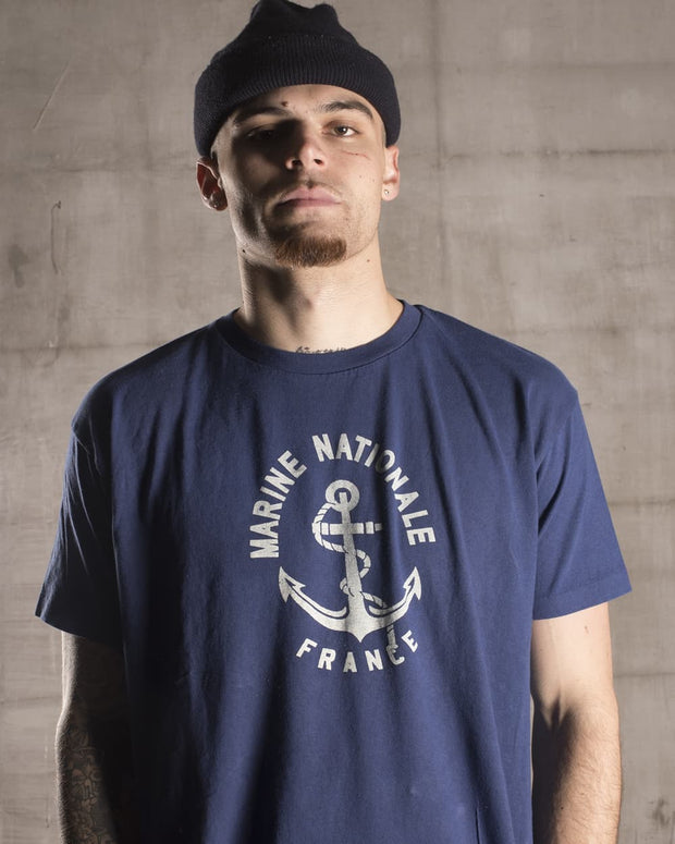 Overlord Upcycling Vintage | Blue French Navy T-Shirt