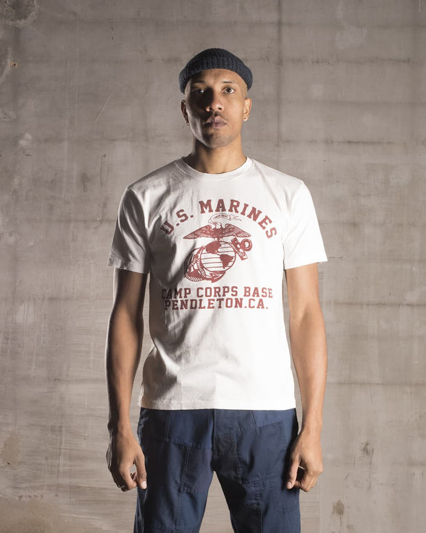 Overlord Upcycling Vintage | White Pendleton Camp US Marines T-Shirt