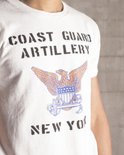 Overlord Upcycling Vintage • White NYC Coast Guard Artillery T-Shirt