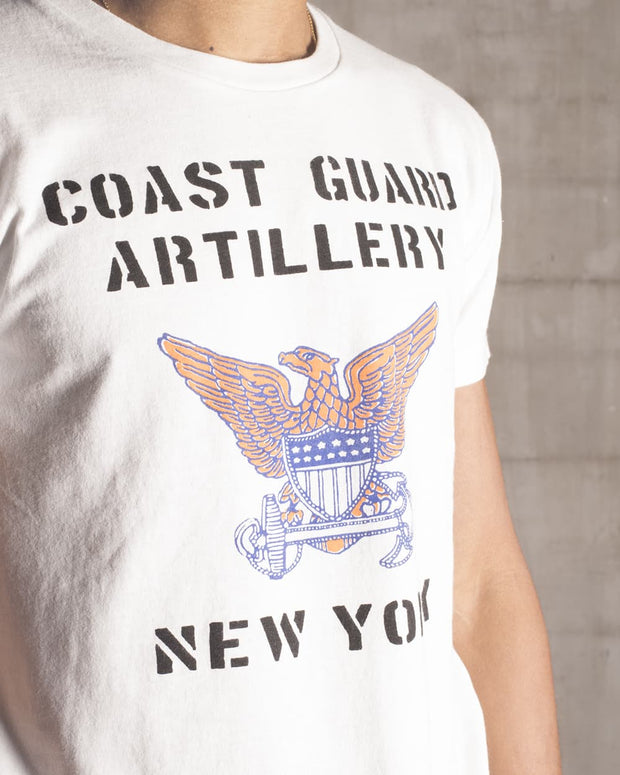 Overlord Upcycling Vintage | White NYC Coast Guard Artillery T-Shirt