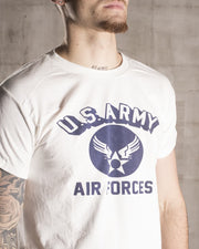 Overlord Upcycling Vintage • White US Air Forces T-Shirt