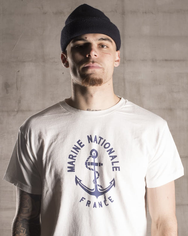 Overlord Upcycling Vintage | White French Navy T-Shirt